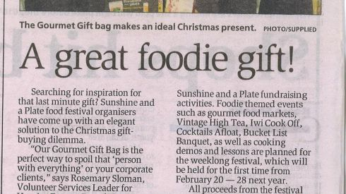 Whakatane Beacon: Dec 2015 - A Great Foodie Gift