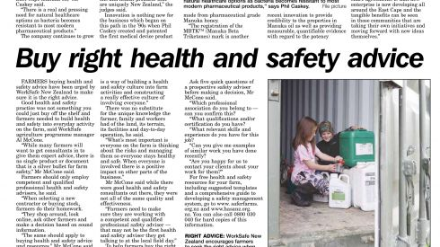 Gisborne Herald: 9 July 2016 - Manuka honey firm recognised