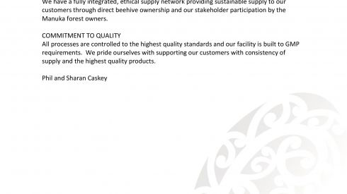 NZ Manuka Group Commitment Statement